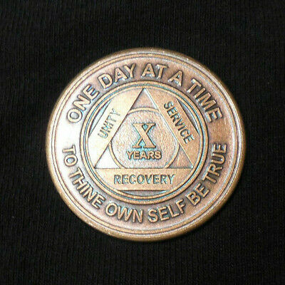 $3.20 • Buy Aa Bronze Alcoholics Anonymous 10 Year Sobriety Chip Coin Token Medallion
