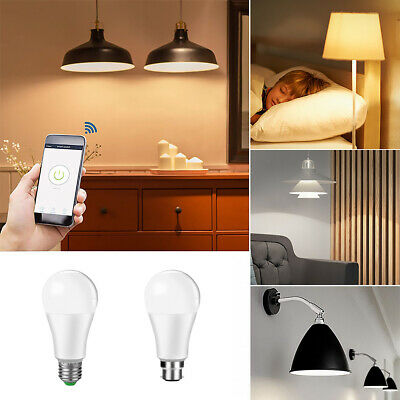 AU25.69 • Buy Wifi Smart LED Light Bulb 15W(60W) B22 E27 RGBW Dimmable For Alexa/Google Home