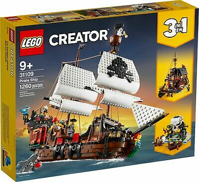 AU108.88 • Buy LEGO 31109 Creator - 3 In 1 Pirate Ship (Brand New Sealed)