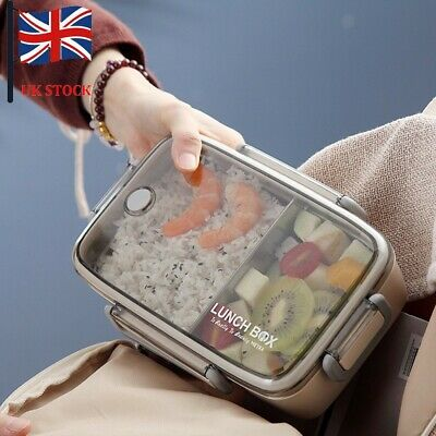 Multilayer Stainless Steel Insulation Lunch Bento Box Case Microwave Containers • 8.99£