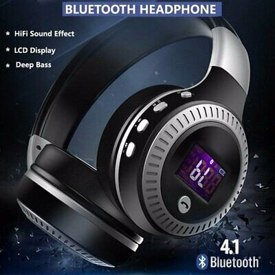 AU23.30 • Buy Wireless Bluetooth Headphones With Noise Cancelling Over-Ear Stereo Earphones AU