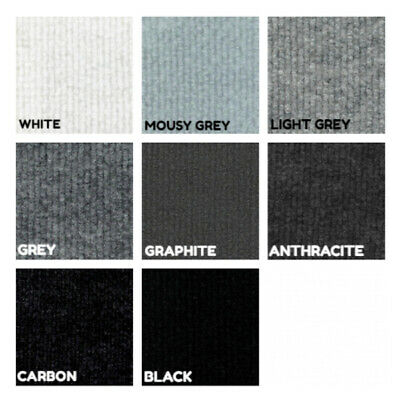 £61 • Buy CORD White Grey Black | Ribbed Carpet Recyclable Ideal Temporary Budget Flooring