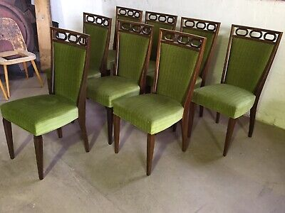 AU2400 • Buy Mid Century Walnut Dining Chairs X8 Rosando