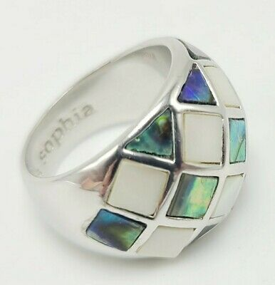 $ CDN39.55 • Buy Lia Sophia A Ilver Ring Womens Size 6 Shell Squares Stunning