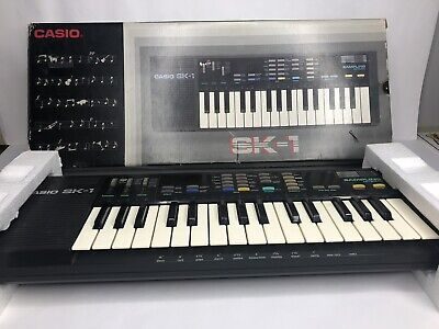 $94.99 • Buy Vintage Casio SK-1 Sampling Keyboard With Box Tested Working Great