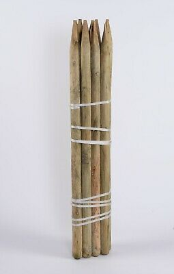 10 X 1.65m 5.4ft X 75mm Round Tree Stake Treated Fence Posts • 53.50£