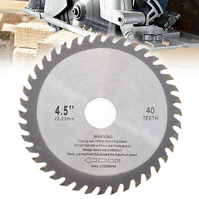 £2.89 • Buy 40T 115mm Mill Chain Circular Saw Blade Disc Bore Wood Cutting For Angle Grinder