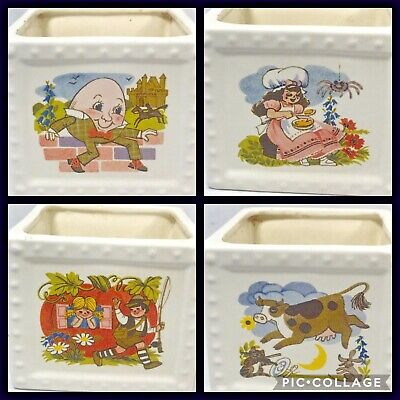 $34.95 • Buy Vtg Haeger Nursery Rhymes Planter USA #277 Humpty Dumpty Muffet Cow Baby
