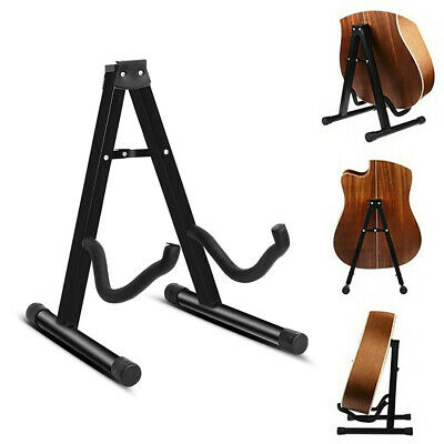 $ CDN32.51 • Buy Black Foldable Guitar Stand Universal A-Frame Black For Acoustic Electric Guitar