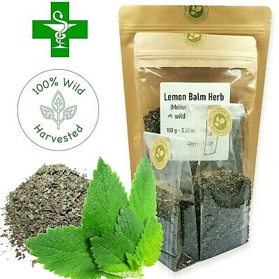 Organic LEMON BALM Leaf Herbal Tea Wild Harvested Dried Cut Melissa Officinalis • 3.49£