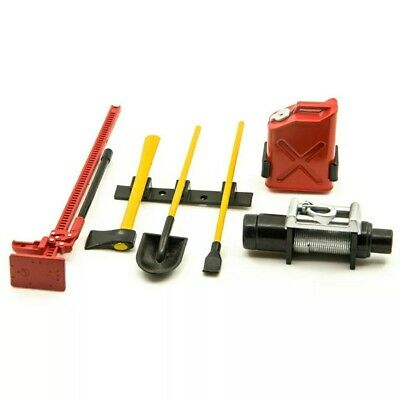 Rc Car Scale Crawler Accessories Tool Kit With Winch • 10.99£