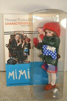 $16.99 • Buy Norman Rockwell Character Doll MIMI Porcelain German Porcelain Collector Edition