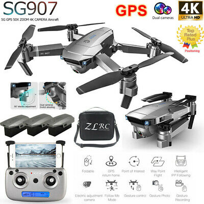 AU205.99 • Buy SG907 5G WIFI 4K RC Drone With Dual Camera RC Quadcopter Drone W/ 3 Batteries