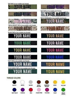 $3.95 • Buy Custom US Military Name Tape (Sew-On) *Text Is Required*