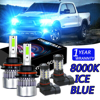 $25.19 • Buy For 2003-2005 Dodge Ram 1500 2500 3500- LED Headlight Bulbs Hi/Lo Fog Lights 8K