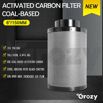 AU99 • Buy Grozy 6  Activated Carbon Filter For Hydroponics Grow Tent Ventilation Fan Kit