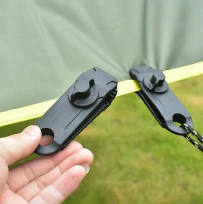 1/5/10Pcs Tarp Tarpaulin Clip Reusable Tent Clamp Buckle Camping Tool Heavy Duty • 5.29£