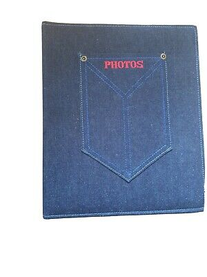 Jeans Dark Blue Cover , Extremly Strong Photo Album ( It Was On Special Odder) • 14£