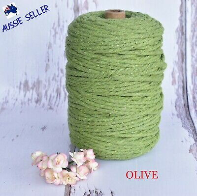 AU45 • Buy Macrame Cord Rope String Cotton 4mm 3 Strand Twist - 160Mtrs - Melbourne Stock