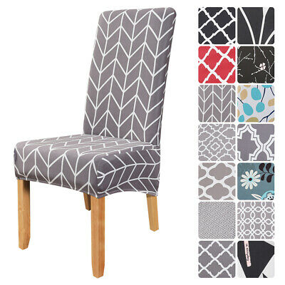 UK Elastic Dining Chair Covers Kitchen Chair Protective Slipcovers High Back • 3.89£