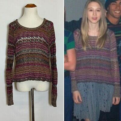 $ CDN106.90 • Buy EUC FREE PEOPLE Lost In The Forest Pullover Faded Rose S ASO VIOLET HARMON