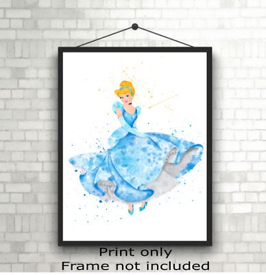 Disney Princess Cinderella Wall Art Poster Photo Print Picture, Gift A5 A4 A3 • 3.49£