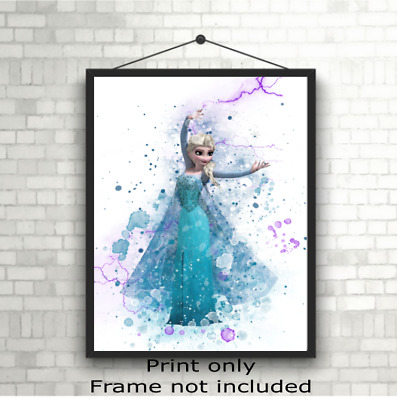 Disney Frozen Elsa Childrens Bedroom Wall Art Poster Print Picture Gift A5 A4 A3 • 3.49£