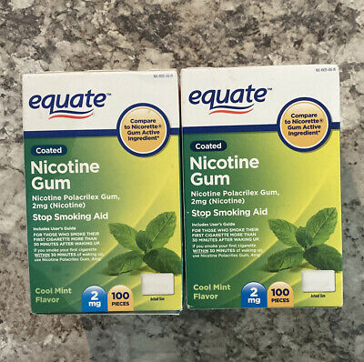 $ CDN66.49 • Buy Equate Coated Nicotine Gum, Cool Mint Flavor, 2mg, 100ct, Exp. 01/21-01/22