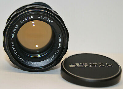 $ CDN83.79 • Buy Pentax Super Multi Coated Takumar 50mm 1:1.4  M42 Lens