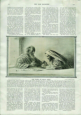 Antique B&W Illustrated Print From Bibbys Annual Eugene Burnand 1916 • 6.49£