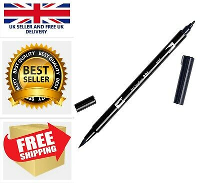 Tombow Dual Brush Pen - Black AB-TN15 US Stock FAST&FREE • 4.99£