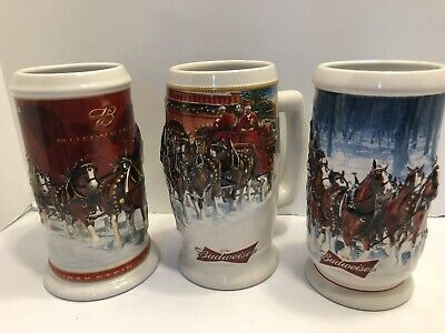 $ CDN12.49 • Buy Budweiser Hiliday Bee Stein Lot Of 3