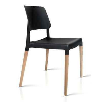 AU129.95 • Buy Artiss Set Of 4 Wooden Stackable Dining Chairs - Black