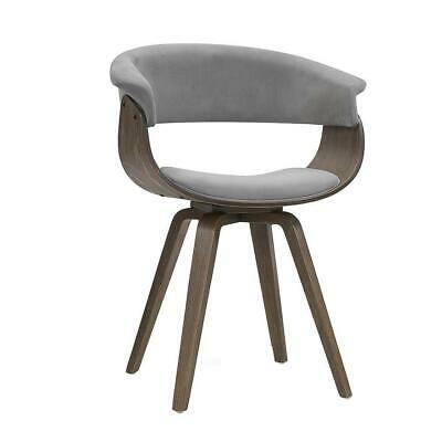 AU119.95 • Buy Artiss Dining Chairs Bentwood Chair Kitchen Velvet Fabric Timber Wood Retro Grey