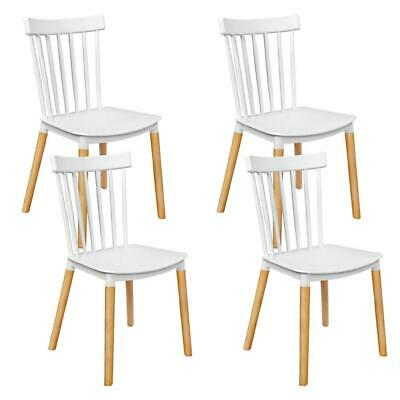 AU120.95 • Buy Artiss Set Of 4 Dining Chairs Replica Kitchen Chair White Retro Rubber Wood Cafe