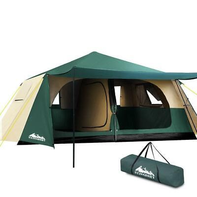 AU266.95 • Buy Weisshorn Instant Up Camping Tent 8 Person Pop Up Tents Family Hiking Dome Camp