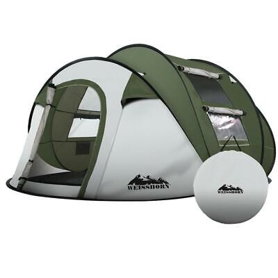 AU100.95 • Buy Weisshorn Instant Up Camping Tent 4-5 Person Pop Up Tents Family Hiking Beach Do