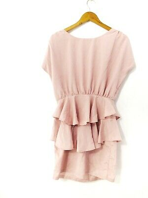 AU20 • Buy Ask Grace Co Women's Shimmery Pink Ruffle Straight Party Dress Size 8