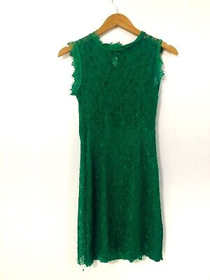 AU30 • Buy Zara Basic Women's Green Lace Overlay High Neck Bodycon Dress Size Small