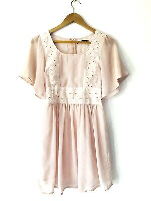 AU30 • Buy Dotti Women's Pink Embroidered Detail Dress Size 6