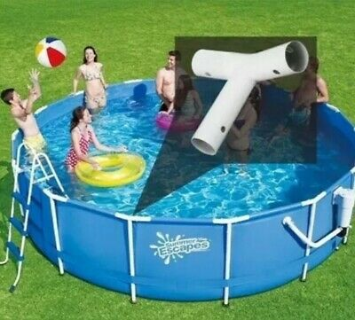 Summer Escapes & Summer Waves Tee-Fitting For 10Ft  Diam Frame Pools( 4x) • 10£