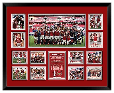 AU99.99 • Buy Arsenal Fc 2020 Fa Cup Champions Signed Limited Edition Framed Memorabilia