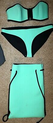 $ CDN71.44 • Buy Authentic Triangl Bikini Set Milly Swimwear Swimsuit New York Green Neoprene S