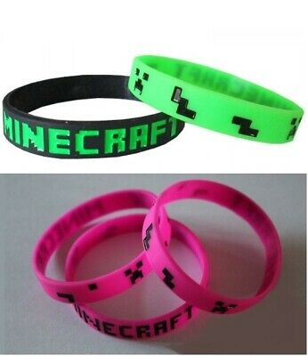 AU5.50 • Buy Mine Game Creeper Armbands Wristbands Party Favour Zombie Silicone Bracelets NEW