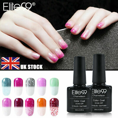 Snowy Thermal Change Colour Manicure UV LED Gel Nail Polish Varnish Elite99 DIY • 2.59£