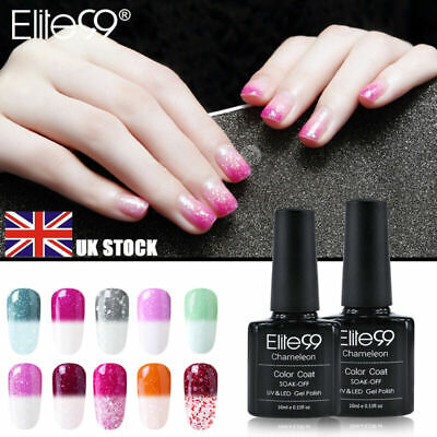 Snowy Thermal Change Colour Manicure UV LED Gel Nail Polish Varnish Elite99 DIY • 2.85£