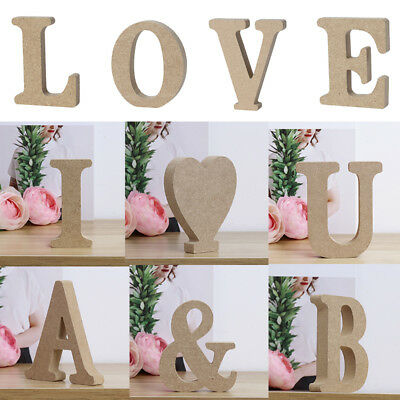 £2.78 • Buy Vintage Large Wooden A-Z Alphabet Letters Word Personalised Block Freestanding