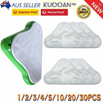AU11.99 • Buy 2/3/5/10 Pack For H2O X5 Steam Mop Pads Stick-On Washable Steam Mop Cleaning Pad