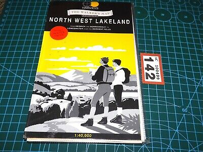 Harvey's Waterproof Walker's Map - NORTH WEST LAKELAND 1992 Keswick Borrowdale • 3.95£