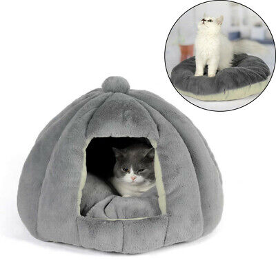 £17.94 • Buy Washable Cat Bed Igloo Sleeping Mat Pet Puppy Dog Kitten Fluffy Cave House Nest